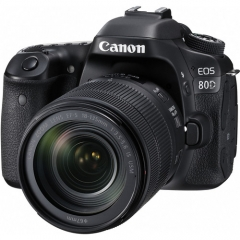 Canon EOS 80D (EF-S 18-135mm F3.5-5.6 IS USM) Lens Kit